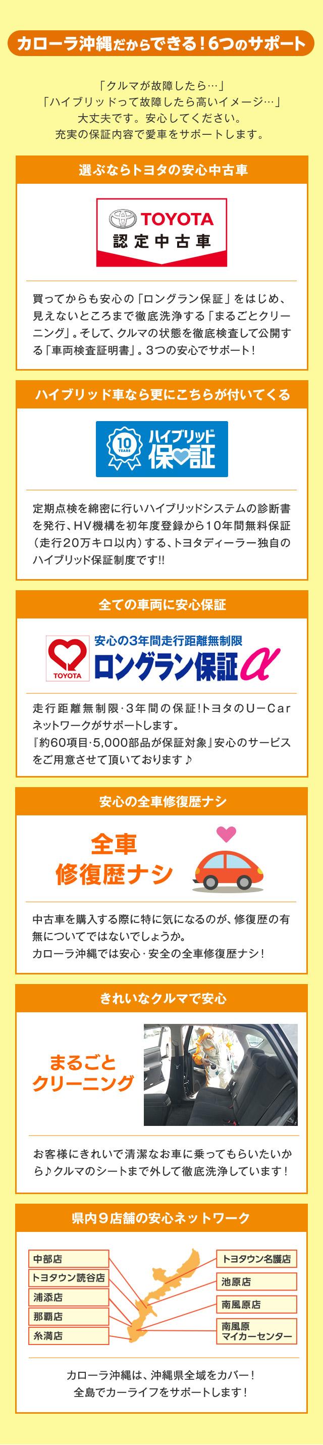 トヨタのお店だからできる6つの安心