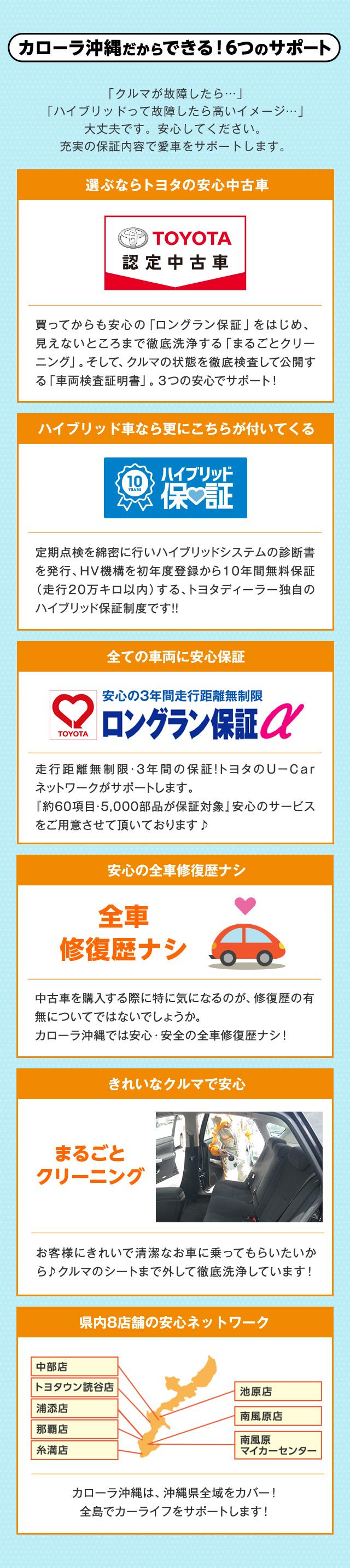 トヨタのお店だからできる6つのサポート